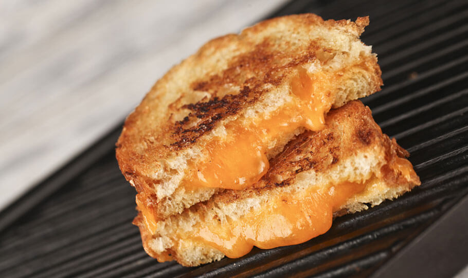 Gooey Grilled Cheese with Beer Soaked Bread